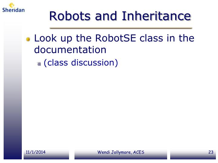 Robots and Inheritance