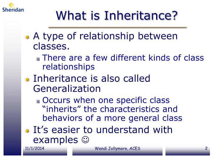 What is inheritance