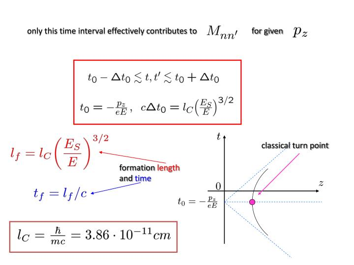 only this time interval effectively contributes to                           for given