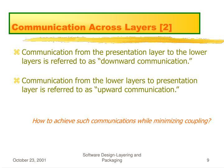 Communication Across Layers [2]