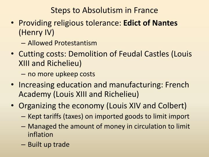 absolutism in france The triumph of absolutism in france louis xiv's palace of versailles ap european history • the triumph of absolutism in france • jf.
