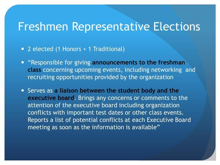 Freshmen Representative Elections