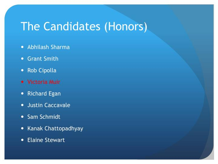 The Candidates (Honors)