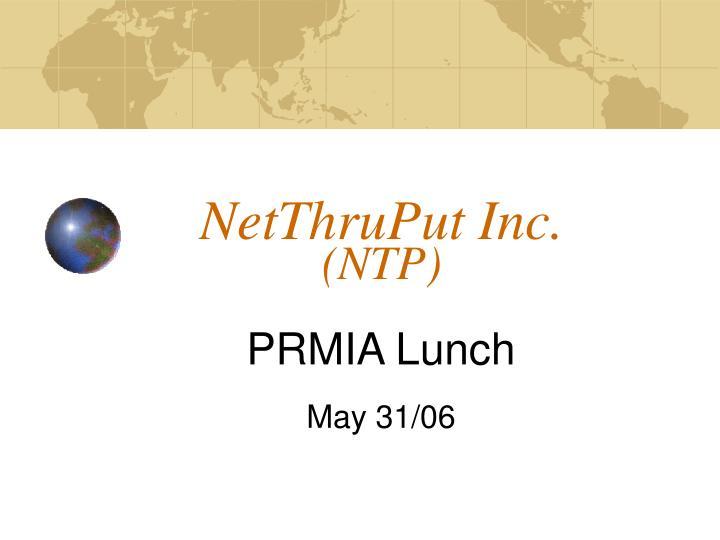 NetThruPut Inc.