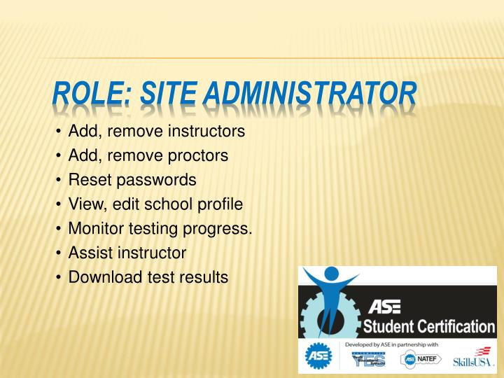 Role: Site Administrator