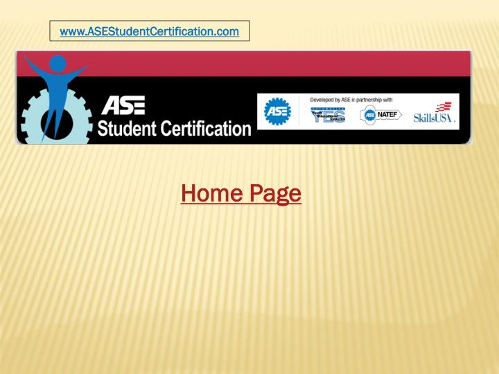 www.ASEStudentCertification.com