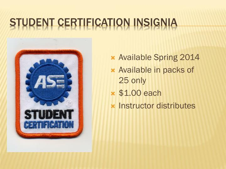 Student Certification Insignia