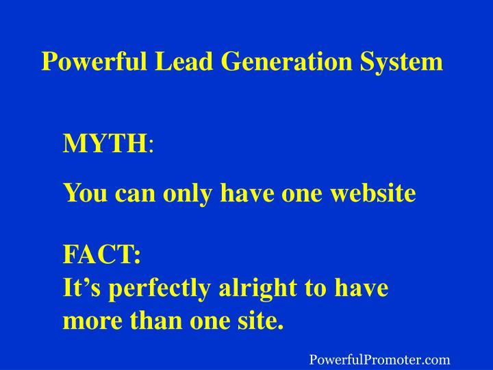 Powerful Lead Generation System