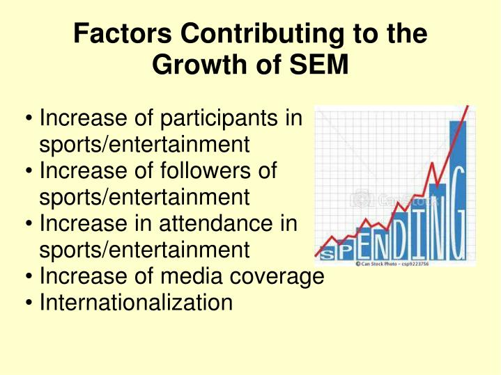 Increase of participants in sports/entertainment