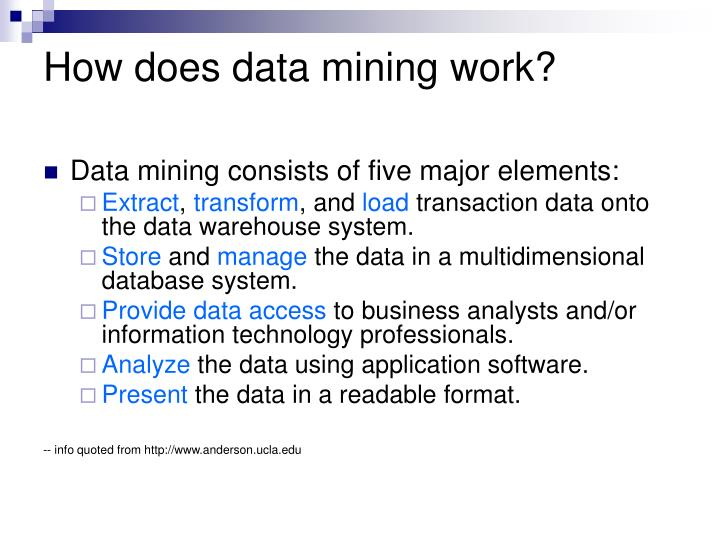 How does data mining work?