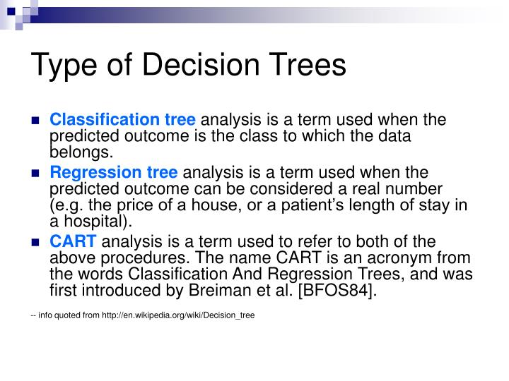Type of Decision Trees
