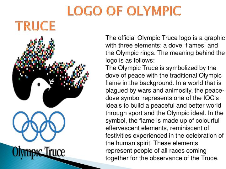 LOGO OF OLYMPIC TRUCE