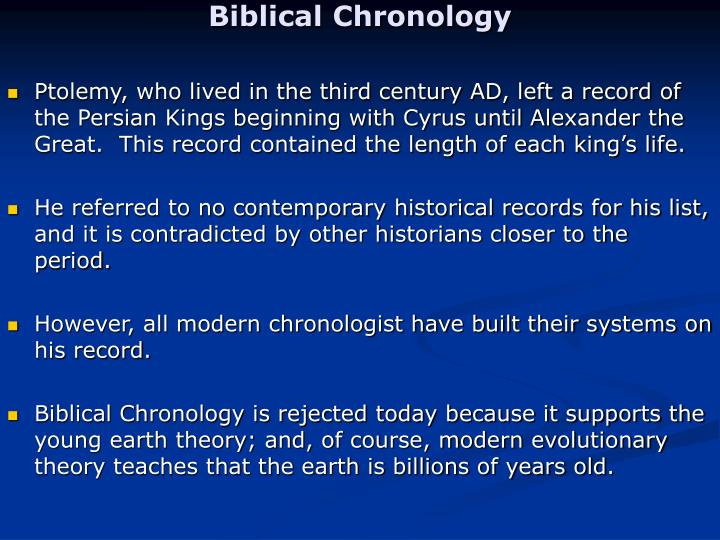 Biblical Chronology