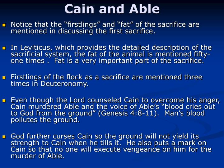 Cain and Able