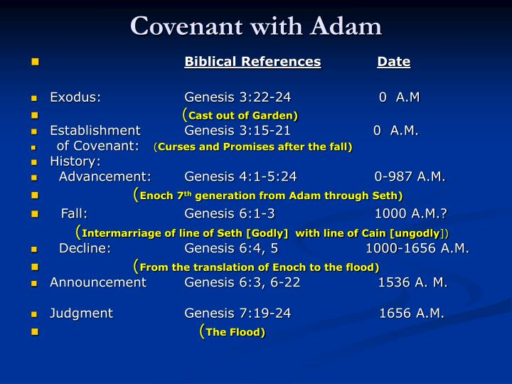 Covenant with Adam
