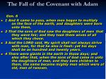 the fall of the covenant with adam