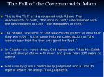 the fall of the covenant with adam1