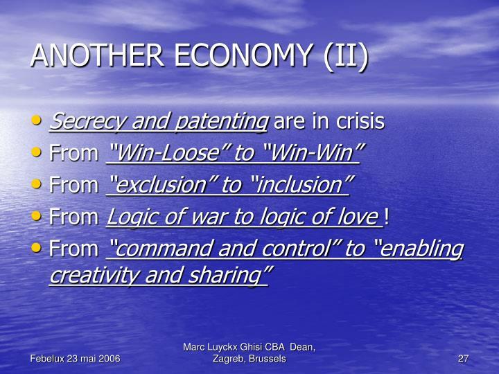 ANOTHER ECONOMY (