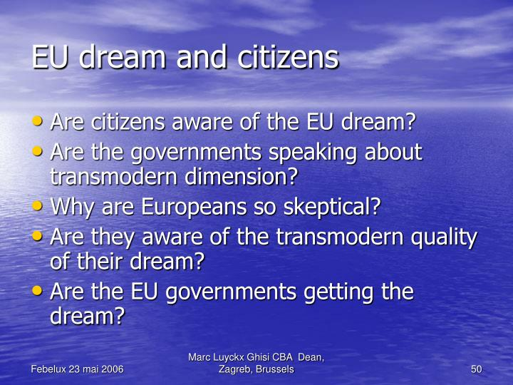 EU dream and citizens