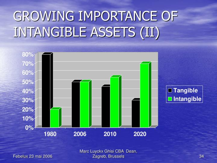 GROWING IMPORTANCE OF INTANGIBLE ASSETS (II)