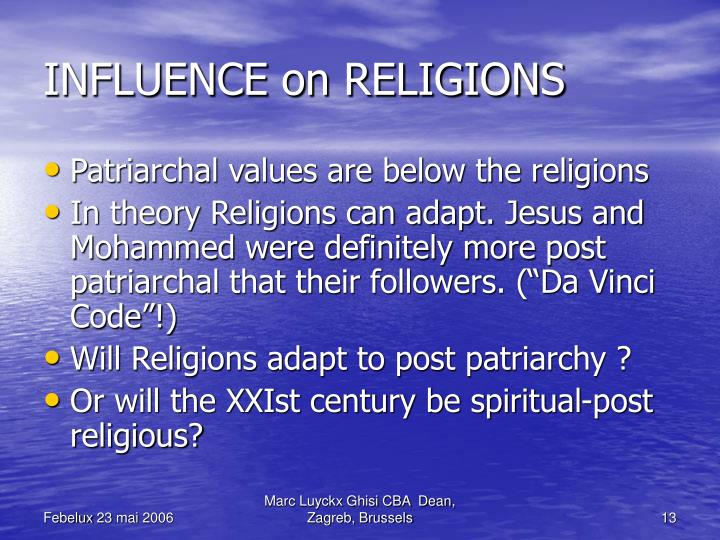 INFLUENCE on RELIGIONS