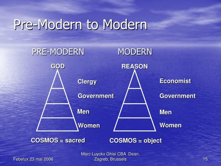 PRE-MODERN