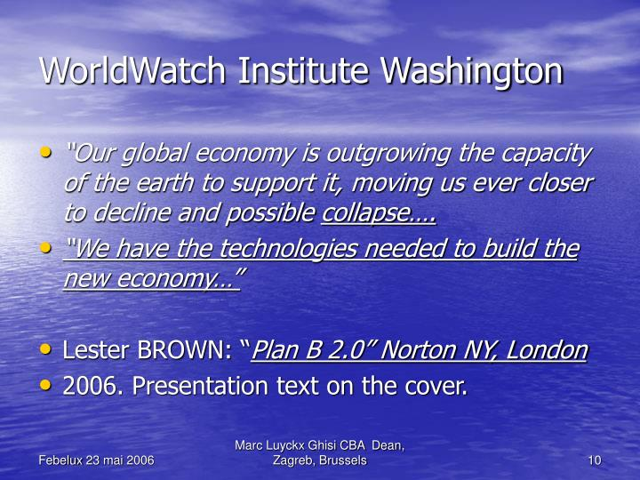 WorldWatch Institute Washington