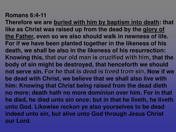 Romans 6:4-11