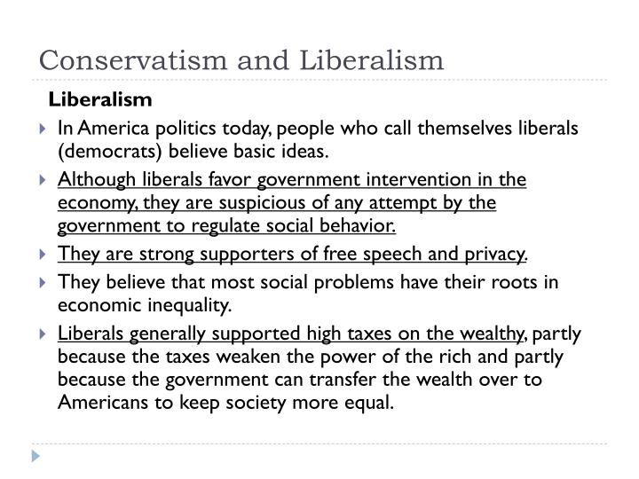 Conservatism and liberalism