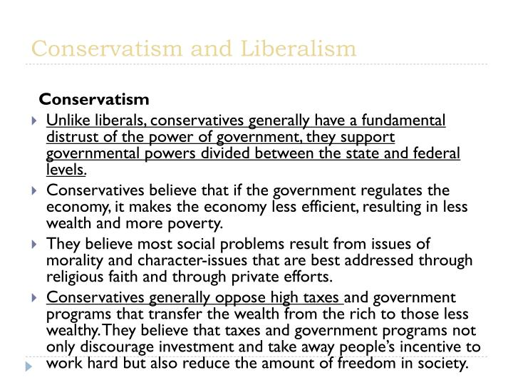 Conservatism and liberalism1