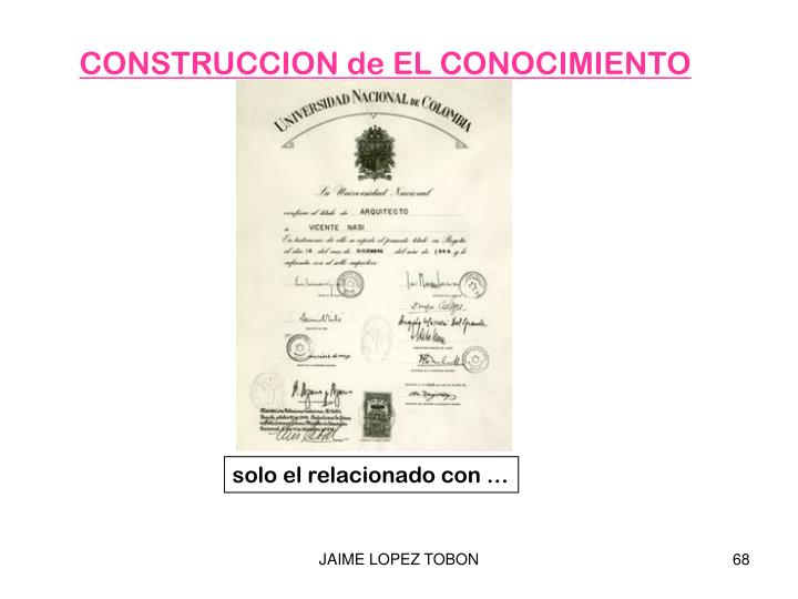CONSTRUCCION de EL CONOCIMIENTO