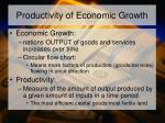 productivity of economic growth