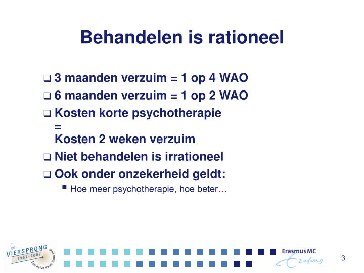 Behandelen is rationeel