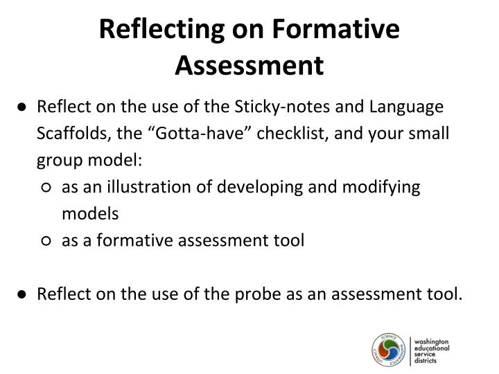 Reflecting on Formative Assessment