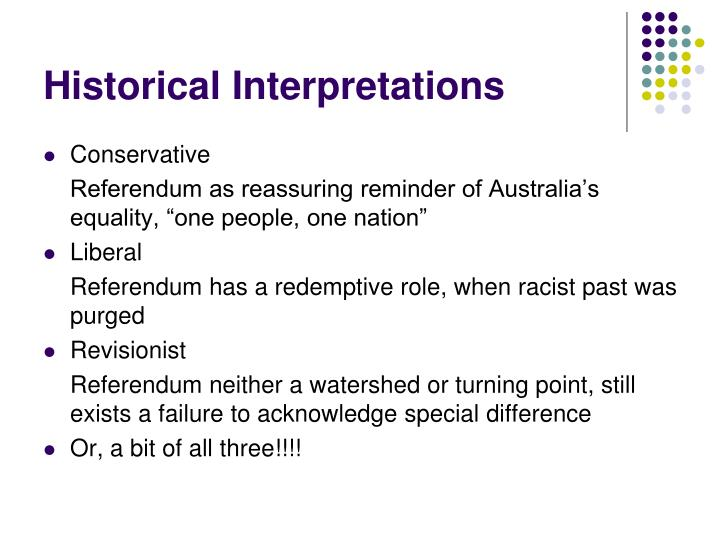 Historical Interpretations