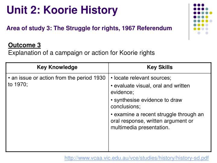 Unit 2: Koorie History