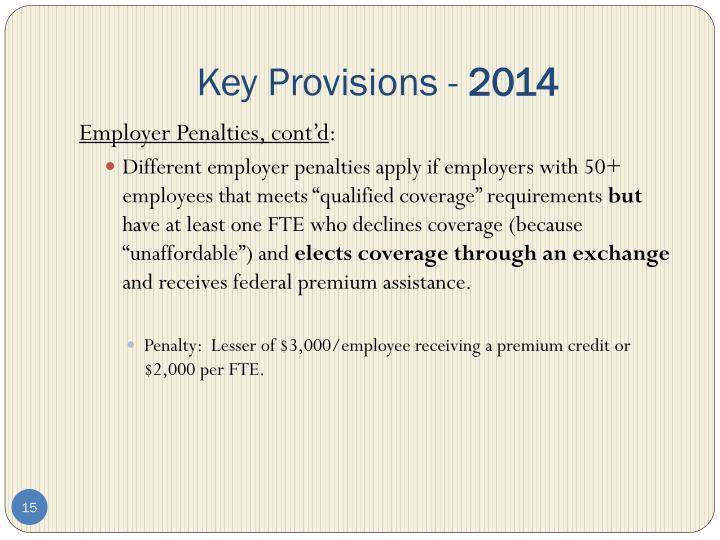 Key Provisions -