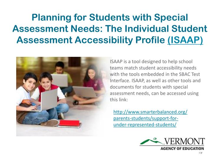 Planning for Students with Special Assessment Needs: The Individual Student Assessment Accessibility Profile