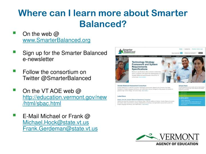 Where can I learn more about Smarter Balanced?