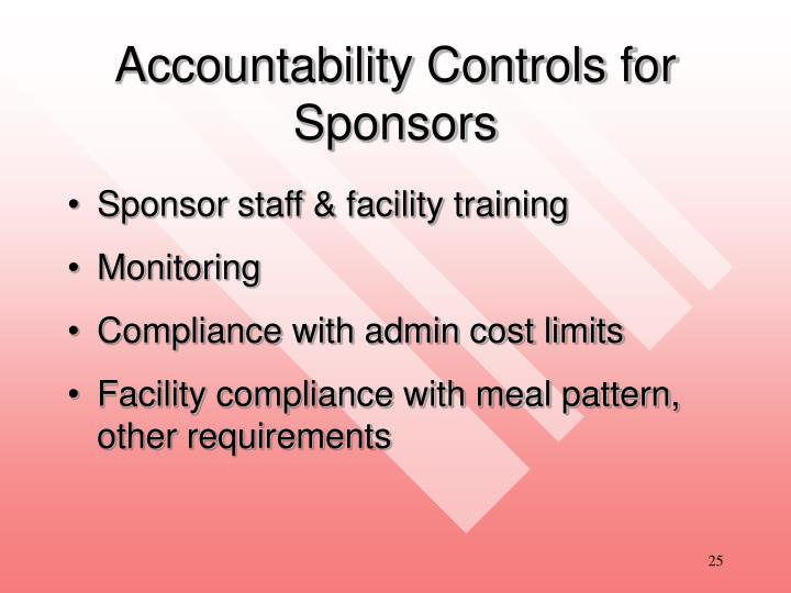 Accountability Controls for Sponsors
