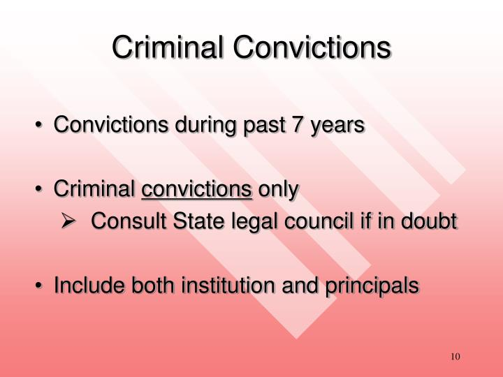 Criminal Convictions