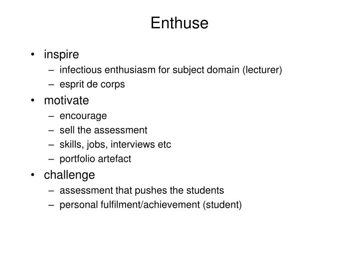 Enthuse