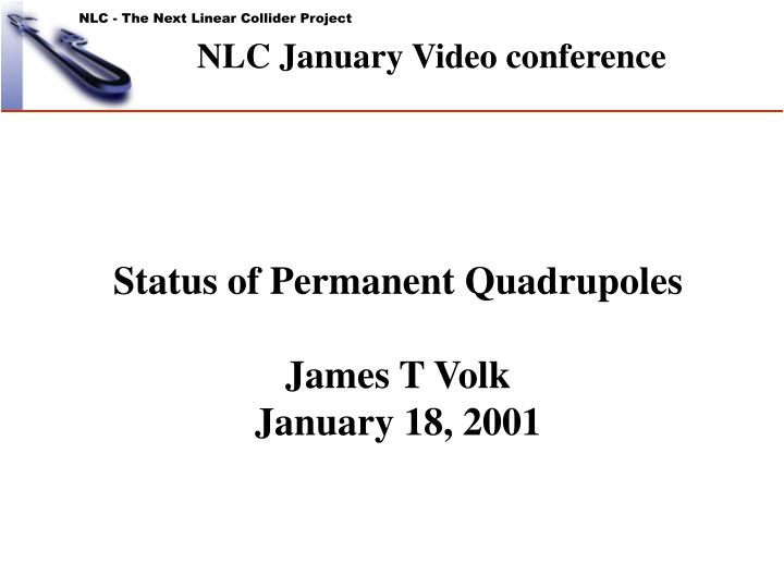 Nlc january video conference