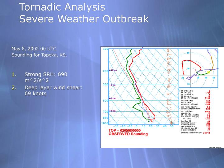 Tornadic Analysis