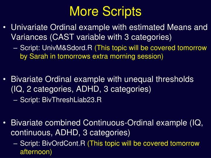 More Scripts