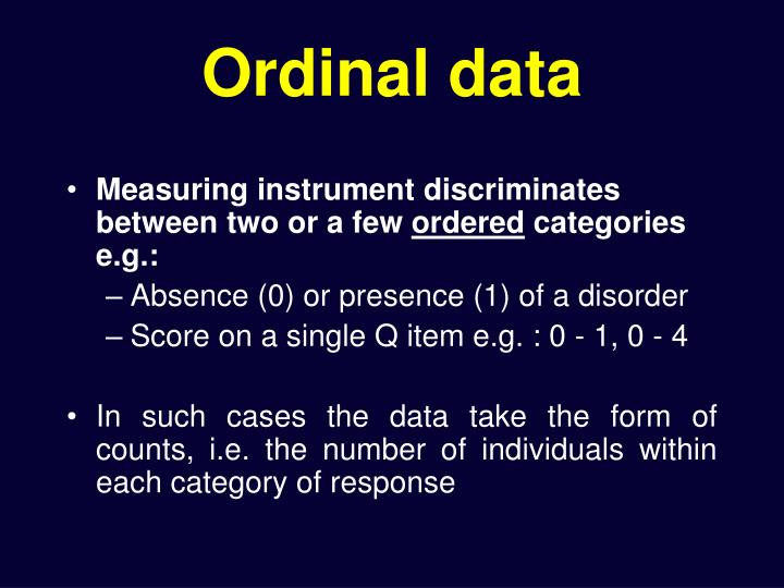 Ordinal data