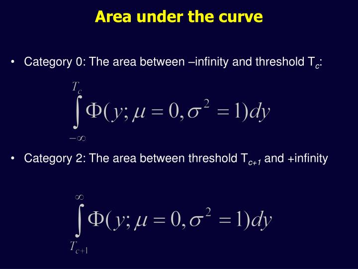 Area under the curve