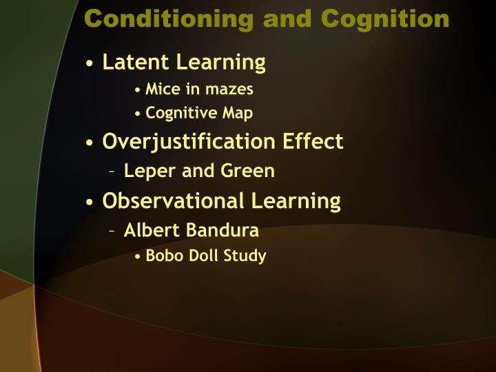Conditioning and Cognition
