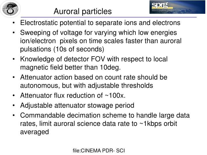 Auroral particles