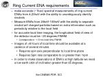 ring current ena requirements